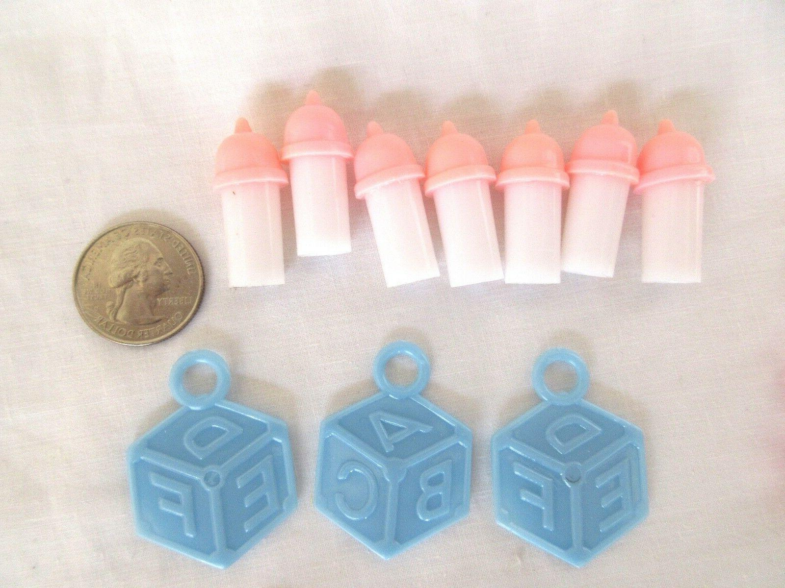 Set of Pieces Assorted Plastic Baby Shower Charms