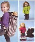 PATTERN to sew clothes for 18in AG doll McCalls 6854 Backpac