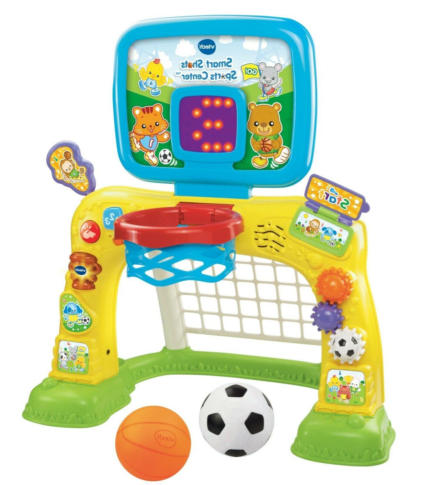 VTech Smart Shots Sports Center, play on the toddler basketb