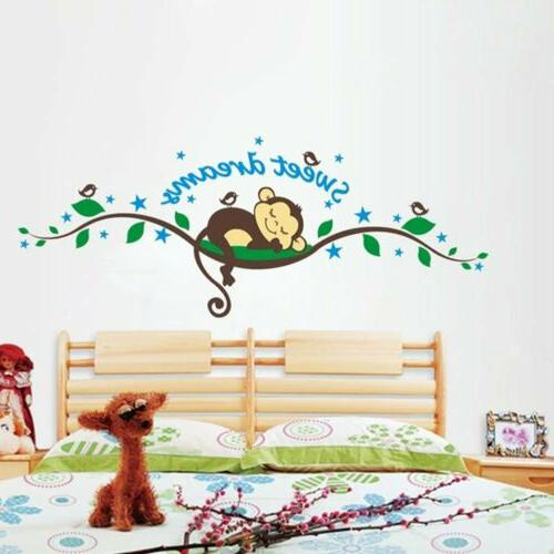 sweet dream monkey wall sticker decal removable