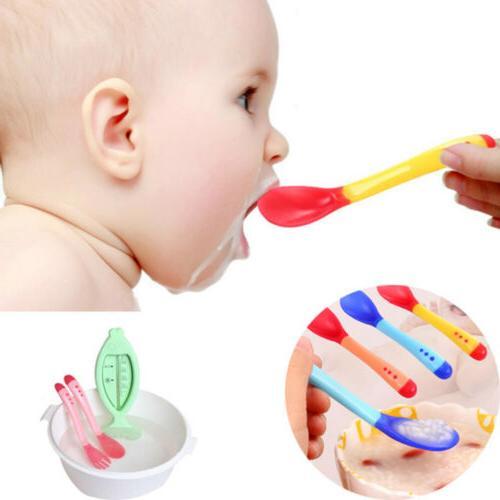 Temperature Heat Sensing Newborn Baby Spoon Safety Infant Fe