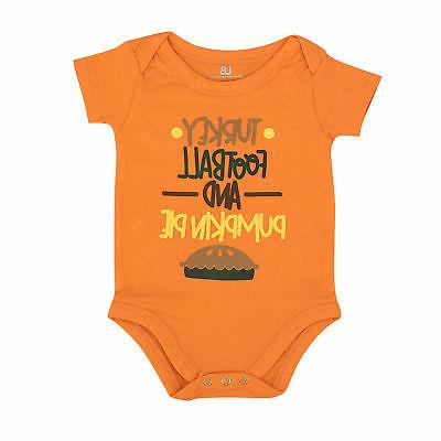 Thanksgiving Infant Outfit Set Football NB,3m,6,9,12,18