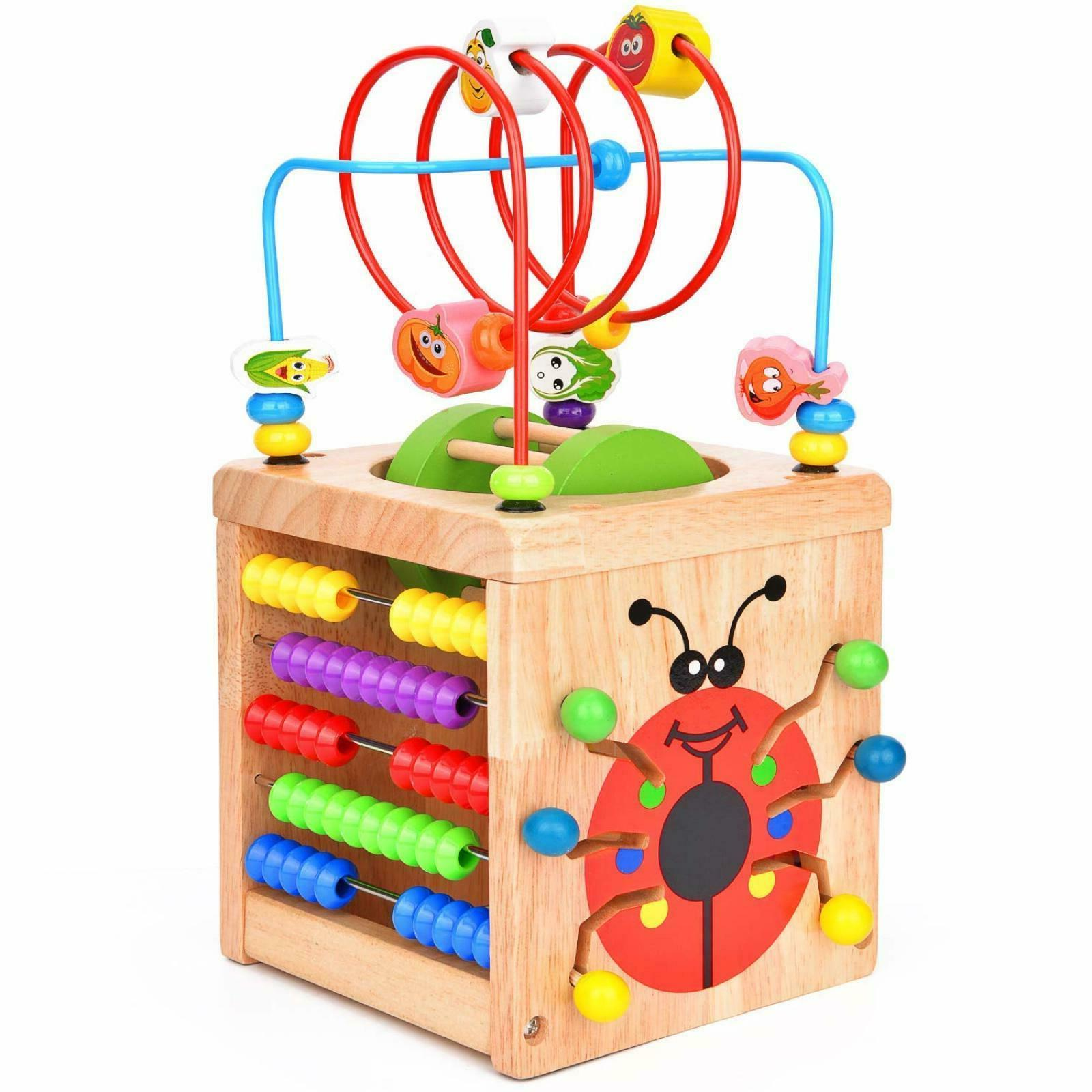Toddler 6-9 Month Baby Boy Girl Toy Educational Playset Wood