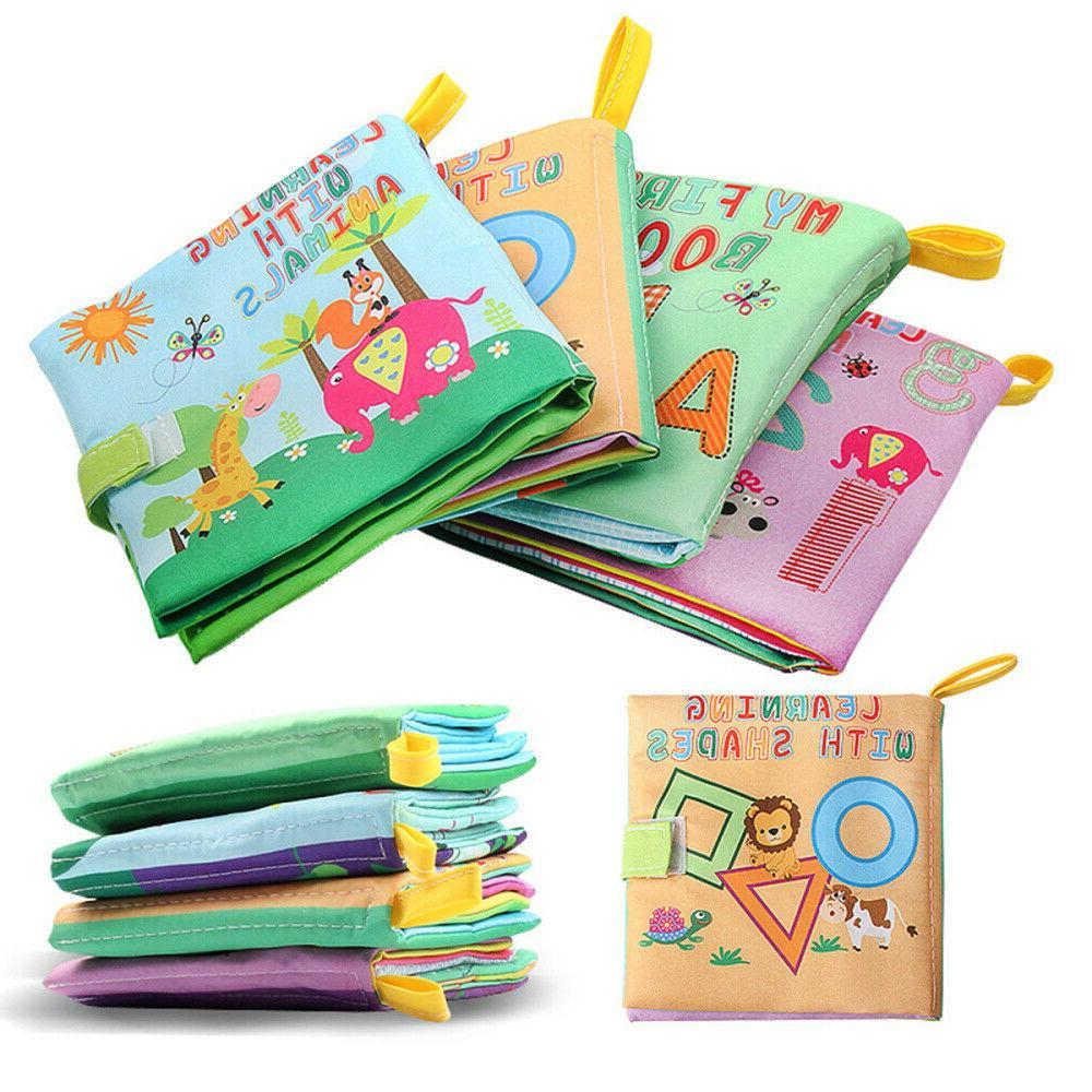 Toddler Kids Baby Cloth Cognize Book Animal Shape Developmen