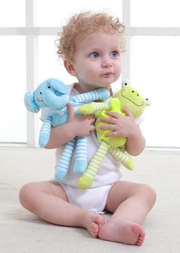Toddler Baby Plush Animal Toys Stroller Pram Doll