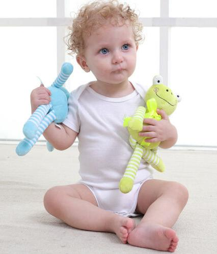 Toddler Newborn Baby Rattle Plush Pram Bed Doll