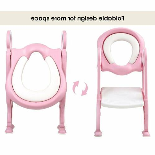 Toddler Toilet Potty Seat with Step for
