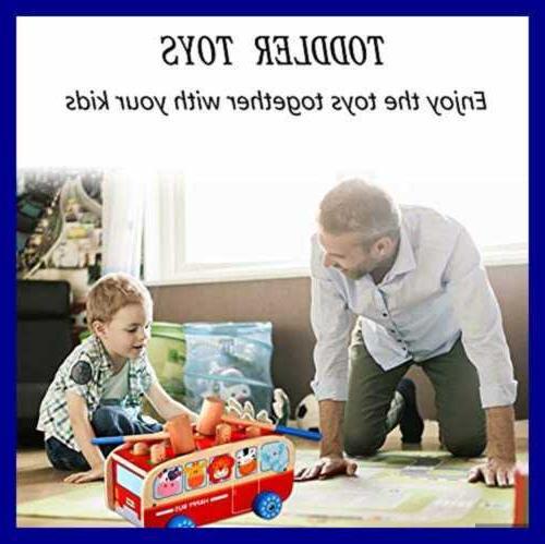 Toddler Wooden For 1 2 3 Old Boy Girl Pounding