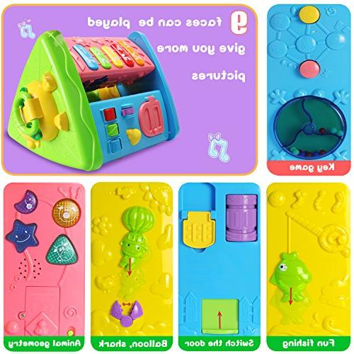 HOMOFY Learning Table Months up Early Activity Center Kids Toddler Girls 1,2,3, New Gifts