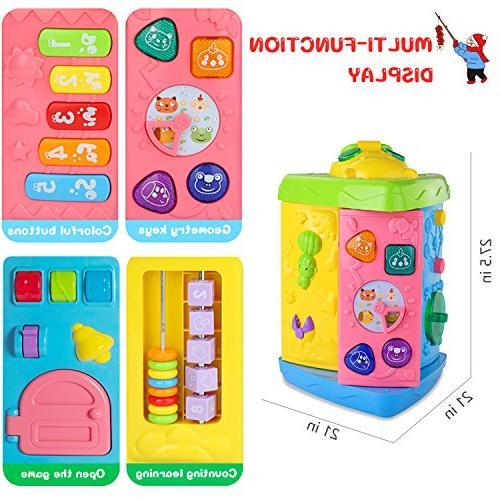 HOMOFY Baby Learning Table Months up Education Activity Center Multiple Modes Kids and Girls 1,2,3, New Gifts