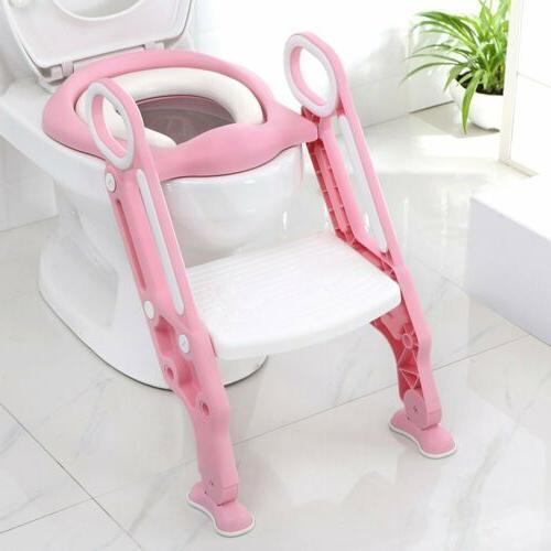 Toddler Toilet Potty Seat Step Stool Ladder