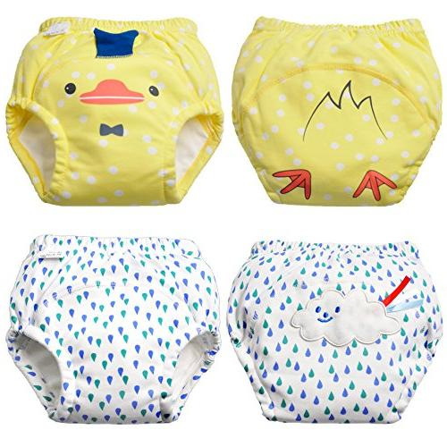Baby Boy's Training Toddler Cotton Cloth Cute Nappy Kids Washable Layers Potty