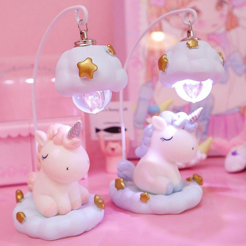 Unicorn Cartoon Lamp LED Night Light Unicorn Toy Dolls Baby