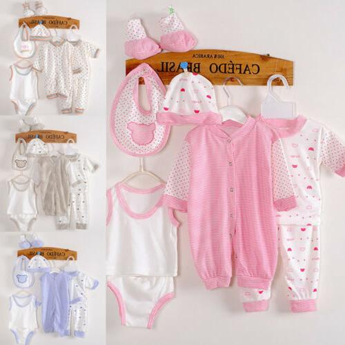US Unisex Newborn Baby Boys Girls 8 Piece Clothing Bag Layet