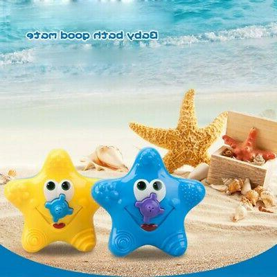 Electronic Float Rotate Spray Water Starfish Baby Bath Toys