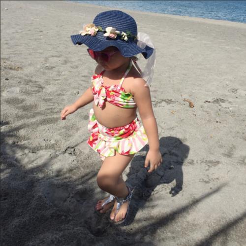 US Fashion Baby Girls Bikini Bathing Suit