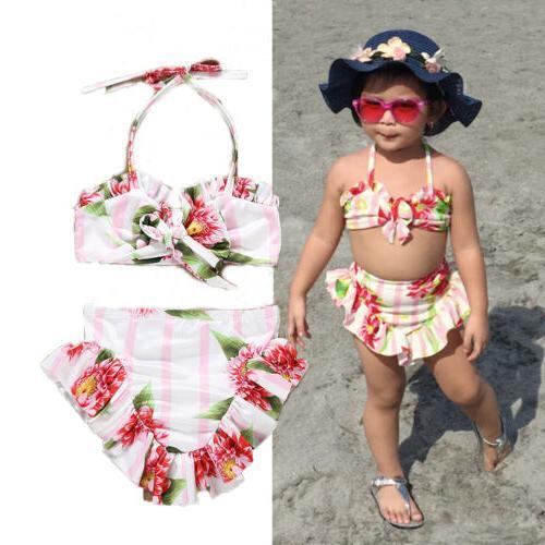 US Fashion Toddler Baby Girls Swimwear Bathing
