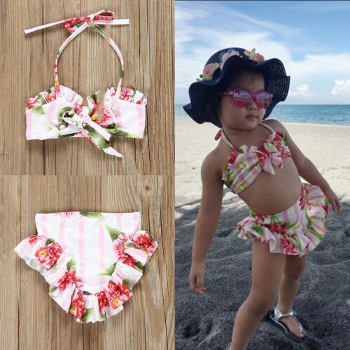 us fashion toddler baby girls bikini swimwear