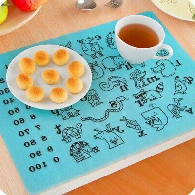 Animal Baby Silicone Placemat USA Family Dining Table Kitche