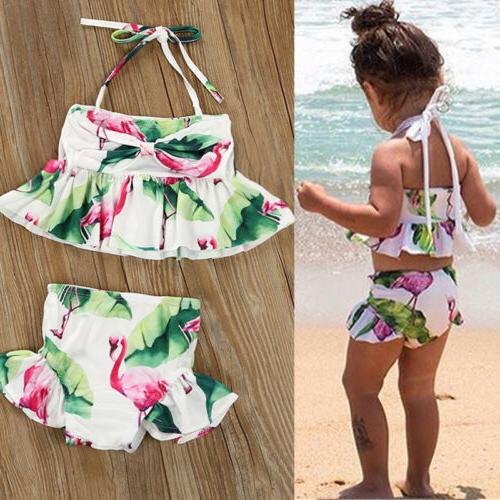 fashion kid baby girls unicorn bikini swimwear