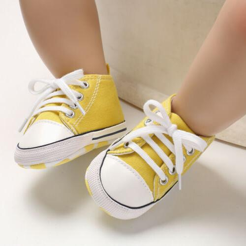 USCute Canvas Sneakers Baby Boy Soft Sole