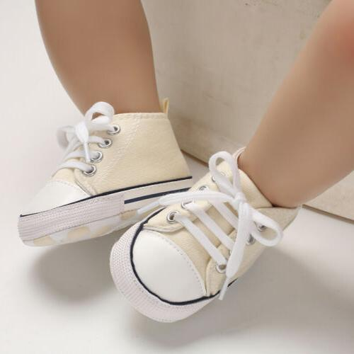 USCute Newborn Kid Sneakers Baby Soft Prewalkers