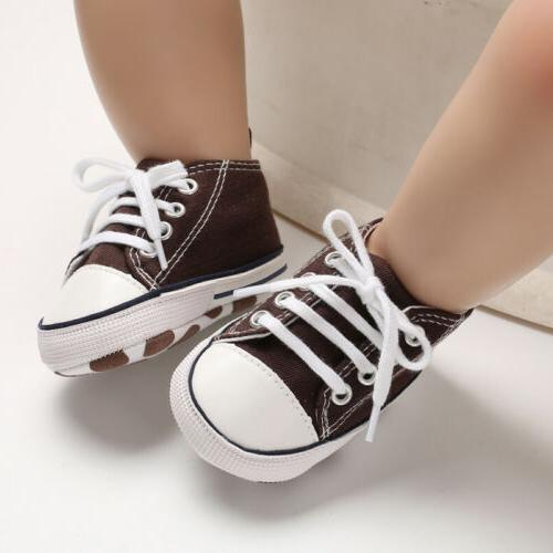 USCute Canvas Sneakers Baby Soft Shoes Prewalkers