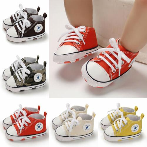 USCute Sneakers Baby Boy Girl Soft Sole Prewalkers