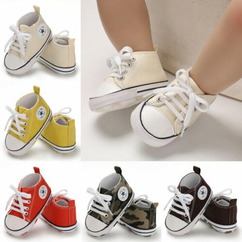 uscute newborn kid canvas sneakers baby boy