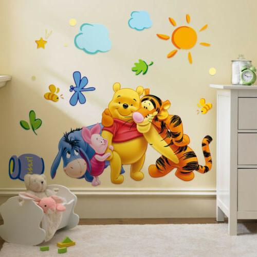 Winnie the Pooh Wall Sticker Decal Wallpaper Kids Baby Nurse
