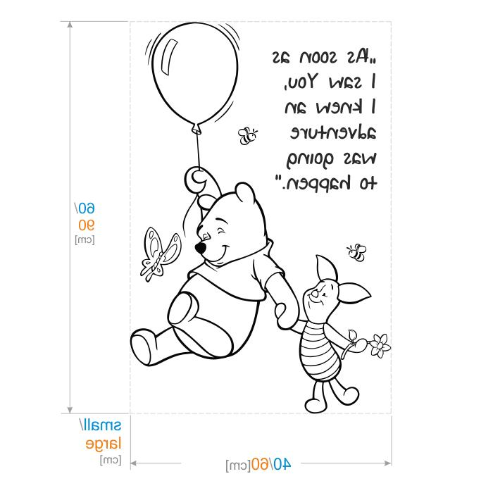 WINNIE THE POOH WALL STICKER QUOTE GIRL BEDROOM BABY DECORATIO