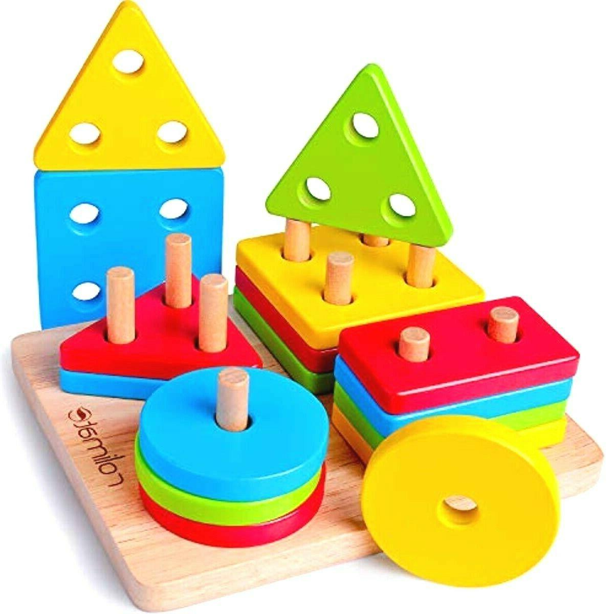 wooden educational learning baby toys motor sorting