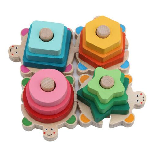 Wooden Sorting Toys Shapes Block Board CO