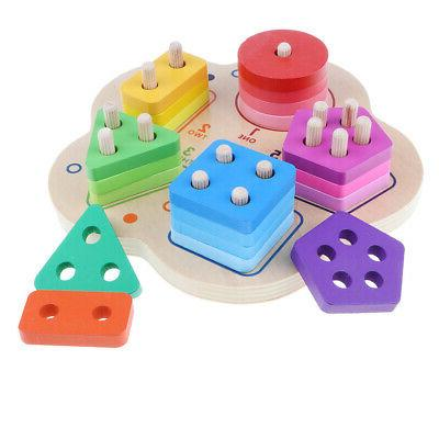 Wooden Sorting Puzzles Baby Toys