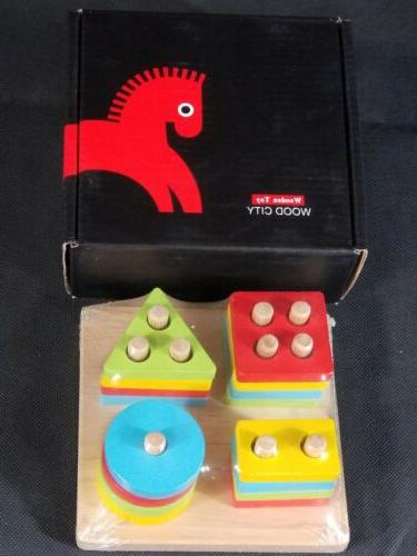 WOOD Wooden Sorting & Toddlers,