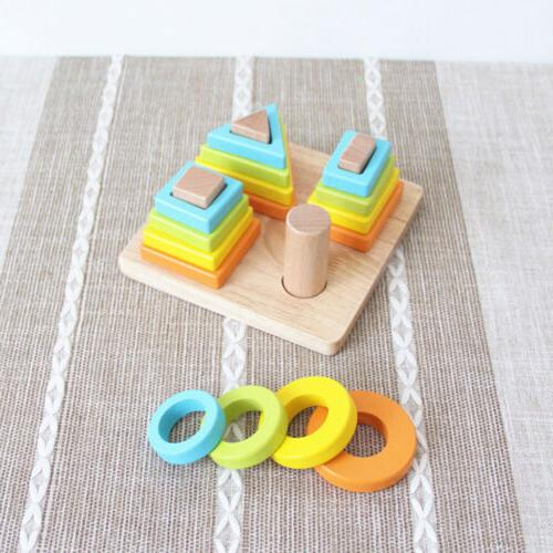 Wooden Stack & Sort Puzzle Toy Birthday Gift Toy for Baby To