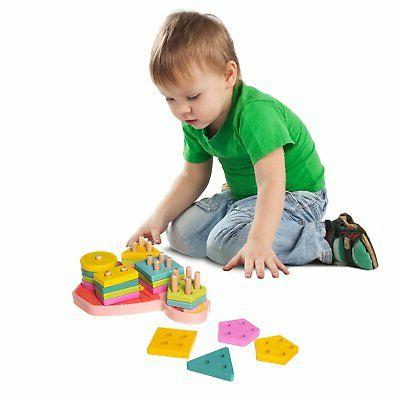 Eliiti Wooden Toy & Toddlers 2 Years Old 21Pcs