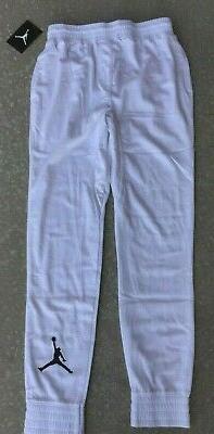 Youth Boys Nike Jordan Size Medium M 10 12 White Mesh Jogger
