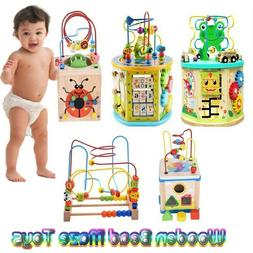 Learning Wooden Bead Maze Cube Activity Center For Child Toy