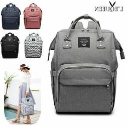 LEQUEEN Diaper Bag Mummy Baby Care Nappy Bag Large Capacity