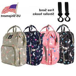 Diaper Bag Backpack Capacity Unicorn Baby Travel Backpack Fr