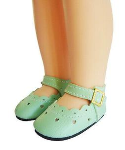 Light Green Mary Jane Shoes QUALITY For Wellie Wisher 14.5""
