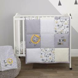 Little Love By Nojo Roarsome Lion, Grey, Yellow, White 3Piec