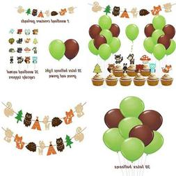 LUCK COLLECTION Woodland Party Supplies Creatures For Baby S