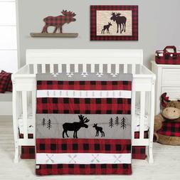 Trend Lab Lumberjack Moose Baby Nursery Crib Bedding CHOOSE