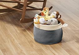 mDesign Knit Baby Nursery Closet Organizer Bin for Stuffed A