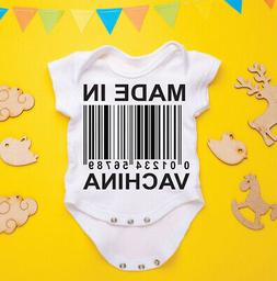 Made in Vachina Funny  Baby Gerber Onesie, Pregnancy Announc
