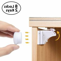 Magnetic Cabinet Locks Baby Safety Invisible Child Kids Proo