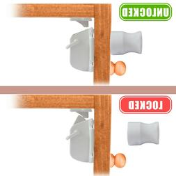 Magnetic Cabinet Locks Safety Baby Set 4 Locks + 1 Keys Chil