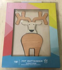 Manhattan Wooden Deer Puzzle Toy Stacking And Sorting Kids 1